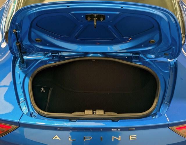 Inside A110  Azul Alpine