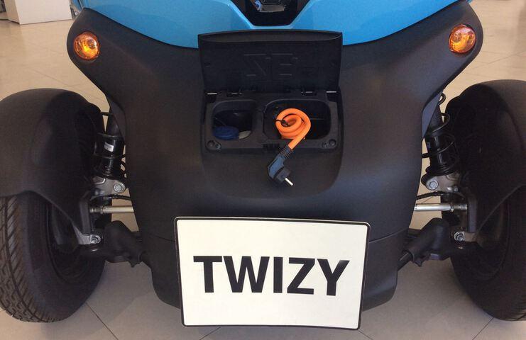 Outside Twizy  Azul Caribe