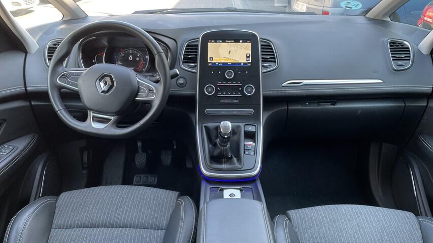 Inside Grand Scénic Diesel  Azul Cosmo con techo